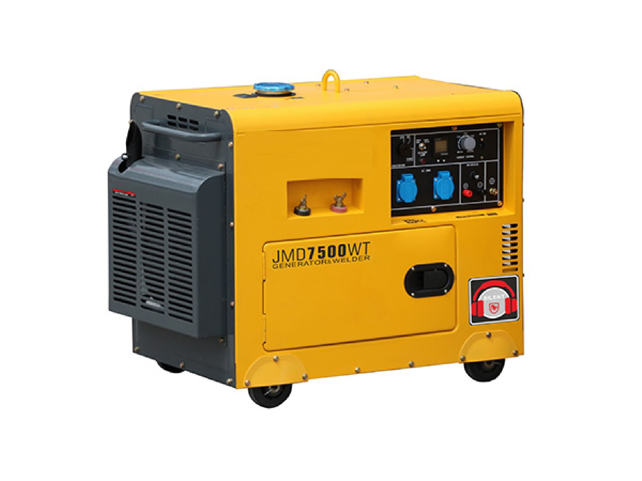 120 Volt 60HZ Diesel Powered Home Generators 5KW Small MUTE Type