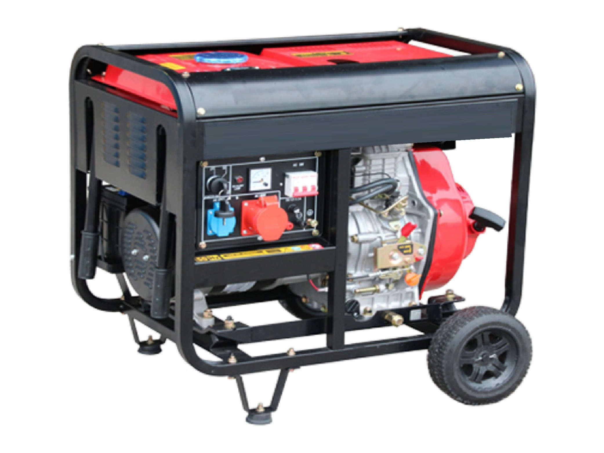 Open Type Silent Diesel Generator 380V Air Cooled 5 0kw Portable