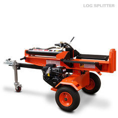 Gas Engine Woods Log Splitter , Firewood 22 Ton Horizontal Log Splitter