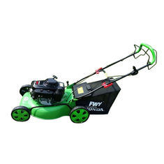 Green Petrol Powered Lawn Mowers 22 Inch Hand Push Type For Family
