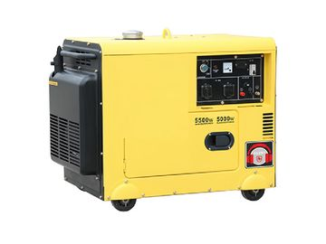 Portable General Diesel Generator , 120 Volt 5kw Silent Generator For Home Use