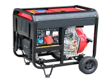 Open Type Silent Diesel Generator Set , 380V Air Cooled 5.0kw Portable Silent Generator