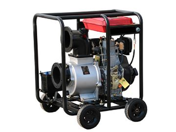 Movable 6 Inch Diesel Powered Water Pump 4 Stroke TW192 WP60D135HP